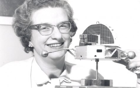 Nancy Grace Roman with a model of the Orbiting Solar Observatory in 1962. Credit: NASA/Kepler Team