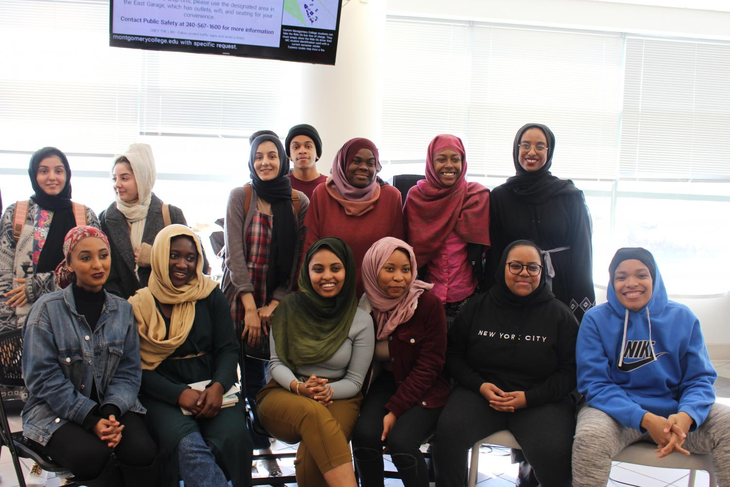 A group photo of the particpants of the World Hijab Day MC Discussion