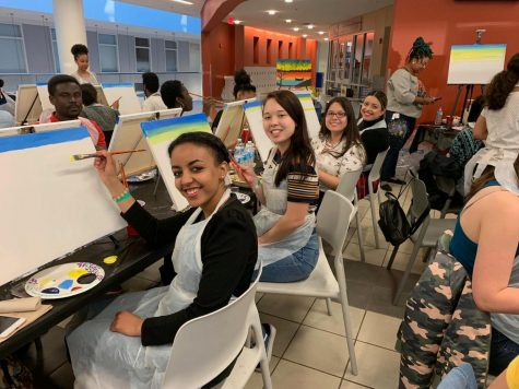 The Arts at MC: Spreading Positivity through Student Paint Nite